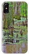 Trees And Knees In Tupelo/cypress Swamp At Mile 122 Of Natchez Trace Parkway-mississippi IPhone Case