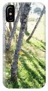 Trees At A Picnic IPhone Case