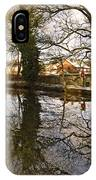 Trees Beside The Wintry Rolleston Pond IPhone Case
