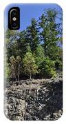 Trees Growing On The Edge IPhone Case