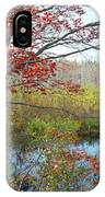Trees In A Forest, Damariscotta IPhone Case