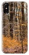 Trees In The Forest In March With Orange Leaves IPhone Case