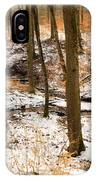 Trees In The Forest In Winter Brown And Orange Leaves IPhone Case