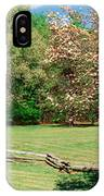 Trees On A Field, Davidson River IPhone Case