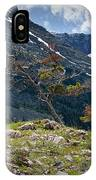Trees On Top Of A Ridge At Glacier National Park IPhone Case