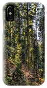 Trees With Moss In The Forest IPhone Case