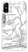 Trenton Map, 1777 IPhone Case