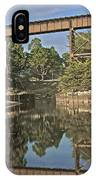 Trestle Over Reflecting Water IPhone Case