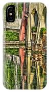 Treviso Canal And Reflections IPhone Case