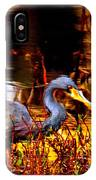 Tri Colored Heron - Reflection IPhone Case