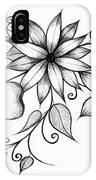 Tri-floral Sketch IPhone Case