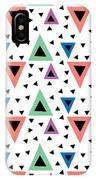 Triangular Dance Repeat Print IPhone Case
