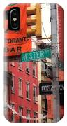 Tribute To Little Italy - Hester And Mulberry Sts - N Y IPhone Case