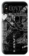 Tribute To Love In Black IPhone Case