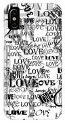 Tribute To Love In White IPhone Case