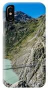 Triftsee Suspension Bridge - Gadmen - Switzerland IPhone Case