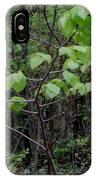 Trilliums Grow Deep Inside Forest IPhone Case