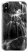 Trinity Waterfall In Monasterio De Piedra Park Bw IPhone Case