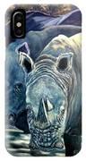Trio Of Rhino IPhone Case