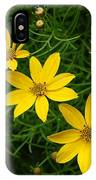 Trio Of Yellow Flower Blossoms IPhone Case