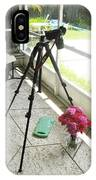 Tripod And Roses On Floor IPhone Case