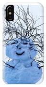 Triptych - Christmas Trees And Snowman - Featured 3 IPhone Case