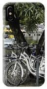 Trois Bikes IPhone Case
