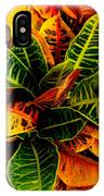 Tropical Croton Vignette IPhone X Case