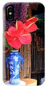 Tropical Flowers In A Porcelain Vase IPhone Case