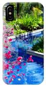 Tropical Garden Around Pool IPhone Case