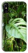 Tropical Green Foliage IPhone Case