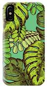 Tropical Leaves Pattern IPhone Case