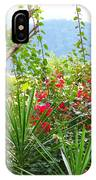 Tropical Red Against Cool Mountain Mists IPhone Case