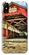 Trostle Town Covered Bridge IPhone Case