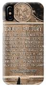 Troup Factory Historical Marker IPhone Case