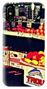 Vintage Outdoor Fruit And Vegetable Stand - Markets Of New York City IPhone Case