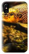 Trout Swiming In A River IPhone Case