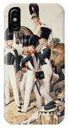 Tsarevich Alexander 1818-81 With His Cadets At Peterhof, C.1823 Wc On Paper IPhone Case