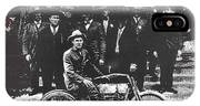Tucson Police Department  On Steps Of City Hall With 1st Police Motorcycle C. 1917 Tucson Arizona IPhone Case