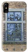 Tudor Style Windows With Balcony IPhone Case
