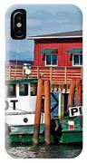 Tug Boat Pilot Docked On Waterfront Art Prints IPhone Case