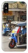Tuk Tuk Taxis In Bangkok Thailand IPhone Case