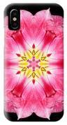 Tulip Peach Blossom IIi Flower Mandala IPhone Case