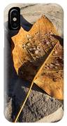 Tulip Tree Leaf - Frozen Raindrops In The Sunshine IPhone Case