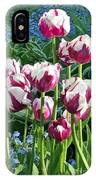 Tulips Among The Forget Me Nots IPhone Case