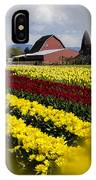 Tulips And Barn IPhone Case