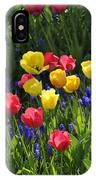 Tulips And Grape Hyacinths IPhone X Case