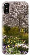 Tulips And Other Spring Flowers At Dallas Arboretum IPhone Case