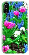 Tulips And Pansies And Grape Hyacinth By Lutheran Cathedral Of Helsinki-finland IPhone Case