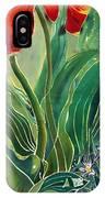 Tulips And Pushkinia Detail IPhone Case